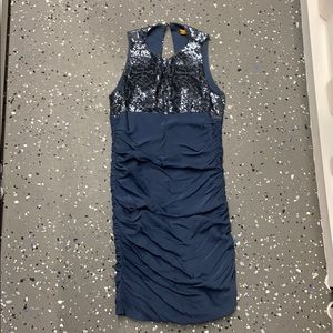 Alice & Olivia Blue Dress with sequins